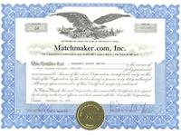 Matchmaker-Com Stock Certificate Elizabeth Cohen