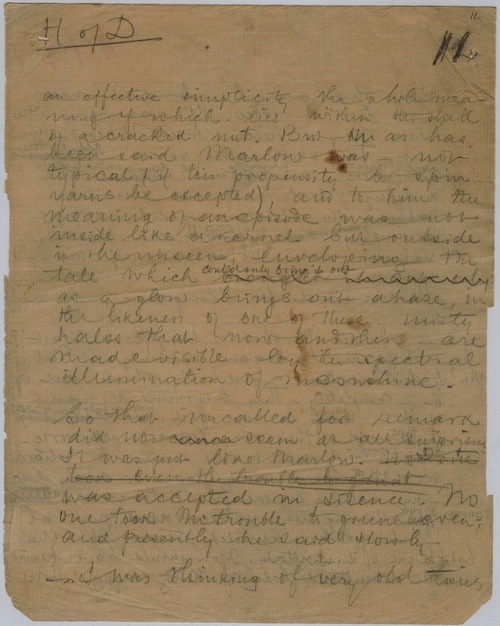 Joseph Conrad Handwritten Manuscript Page 11 Heart of Darkness 500