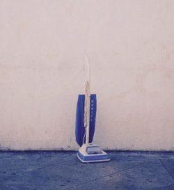 vacuum against wall